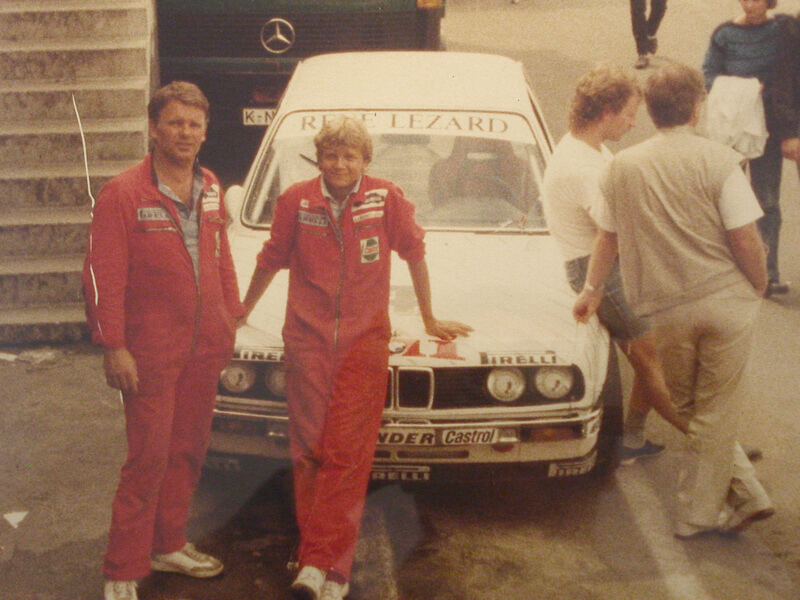 Eberhard and Steffan Irmler with the Zolder DPM team of Linder with Winni Vogt in 1985