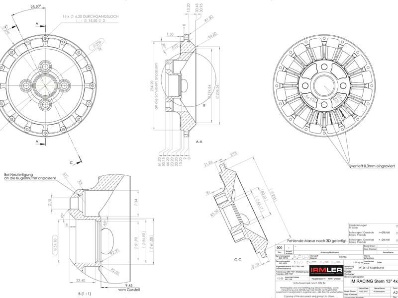 Mit moderner Software erstellen wir eine CAD-Konstruktion und führen die Berechnungen der Festigkeit durch.