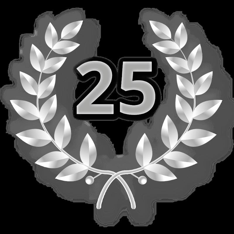 Lorbeerkranz mit Zahl
