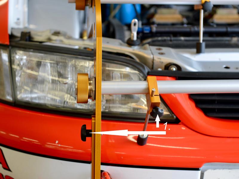 Verstellmöglichkeiten für die Achsvermessung und Spureinstellung