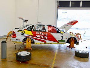Spur messen / Sturz messen für Supertourenwagen und Rennfahrzeuge